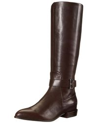 Nine West - Women's Diablo Leather Knee-high Boot - Lyst