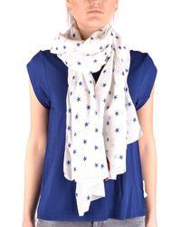 Altea | Women's White Cotton Scarf | Lyst