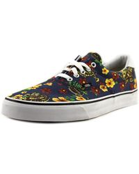 e38c243513 Lyst - Vans Authentic Men Round Toe Canvas Multi Color Skate Shoe ...