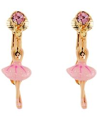 Les Nereides - Mini Pas De Deux With Pink Mini Ballerina And Crystal Earrings - Lyst