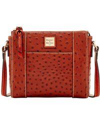 Dooney & Bourke - Ostrich Lexington Crossbody Shoulder Bag - Lyst