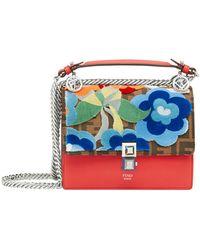 Fendi - Women's Red Leather Shoulder Bag - Lyst