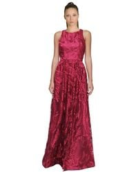 David Meister - Embroidered Tulle Gown - Lyst