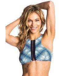 Rip Curl - Blue Bikini Top Bralette Last Light High Neck - Lyst