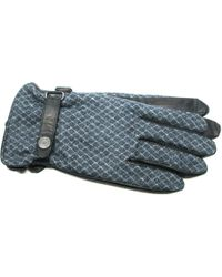 Ike Behar - Wool Pattern Leather Touchscreen Gloves - Lyst