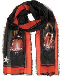 Givenchy - Women's Black Wool Scarf - Lyst