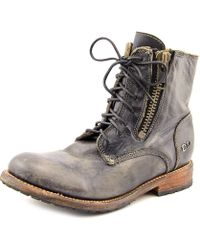 Bed Stu - Tactic Women Round Toe Leather Black Boot - Lyst