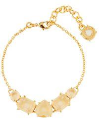 Les Nereides - La Diamantine 5 Citrine Yellow Stones Bracelet - Lyst