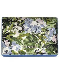 Pinko - Women's Blue Polyester Card Holder - Lyst