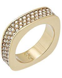 Swarovski - Crystal Vio Plated Stainless Steel Ring - Lyst