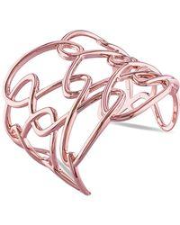Catherine Malandrino - 18k Rose Gold Plated Interlace Cuff Bracelet - Lyst