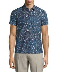 Orlebar Brown - Linen Printed Shirt - Lyst