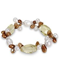 Catherine Malandrino - Link Bracelet With Freshwater Cultured Pearls - Lyst