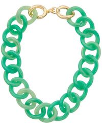 Kenneth Jay Lane - 22k Plated Resin Link Necklace - Lyst