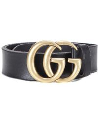6b941e8369d Lyst - Gucci Black Leather Single Prong Bamboo Buckle Belt in Black ...