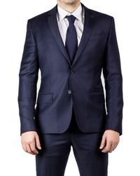 Luciano Barbera - Men's Two Button Wool Suit Navy Blue - Lyst