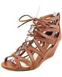 Material Girl - Womens Hera Open Toe Casual Platform Sandals - Lyst