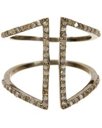 Adornia - Champagne Diamond And Sterling Silver Berlin Ring - Lyst