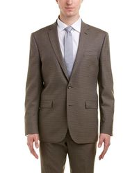 Kenneth Cole - New York Slim Fit Wool Suit With Flat Front Pant - Lyst