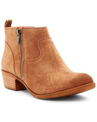 Lucky Brand - Womens Benniee Leather Almond Toe Ankle Fashion Boots - Lyst