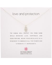Dogeared - Reminder Silver Necklace - Lyst