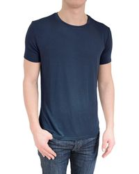 Stone Rose - Soft Navy Crew Neck T-shirt - Lyst
