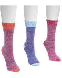 Muk Luks - Women's Microfiber Boots Socks - Lyst