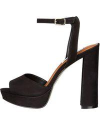 7c215e90d65 Steve Madden - Womens Brrit Leather Open Toe Special Occasion Platform  Sandals - Lyst