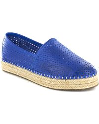 Chocolat Blu - Brett Perforated Leather Espadrille - Lyst