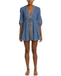 ANAMÁ - Embroidered Shift Dress - Lyst