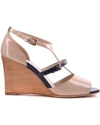 Tod's - Women's Mcbi293019o Beige Leather Sandals - Lyst