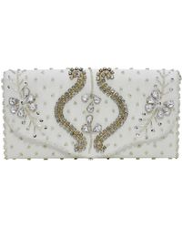 La Regale - Regal Beaded Flap Clutch - Lyst