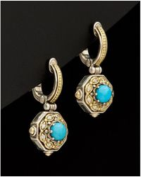 Konstantino - Hermione 18k & Silver 1.00 Ct. Tw. Turquoise Earrings - Lyst