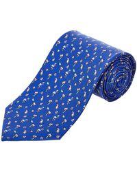 Ferragamo - Blue Flamingo Silk Tie - Lyst