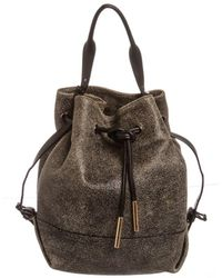 Opening Ceremony - Grey Leather Izzy Backpack Satchel Bag - Lyst
