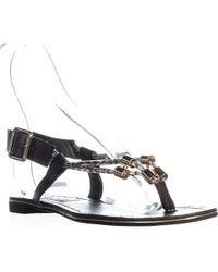 Steve Madden - Foolish Flat Buckle Sandals, Black Multi - Lyst