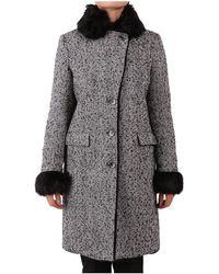 Patrizia Pepe - Women's Grey Wool Coat - Lyst