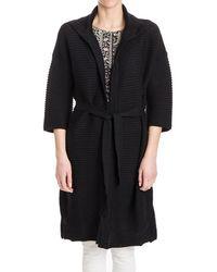 Fuzzi - Women's Black Wool Cardigan - Lyst