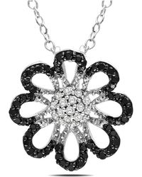 Catherine Malandrino - Cluster Floral Filigree Pendant With Chain - Lyst