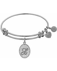 Angelica - Initial Bangle-x - Lyst
