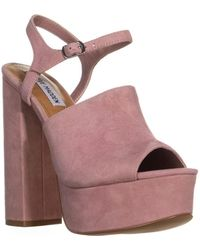 fc47ed648a34 Lyst - Steve Madden Womens Apolo Leather Open Toe Casual Espadrille ...
