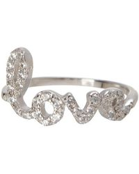 Adornia - Sterling Silver Cursive Love Ring - Lyst