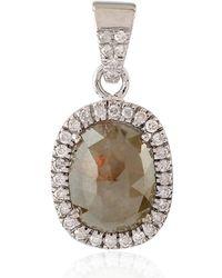 Socheec - 18k White Gold Ice Diamond Pendant - Lyst