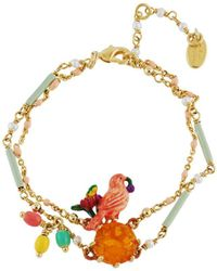 Les Nereides - Lovely Canaries On Stone Double Chain Bracelet - Lyst