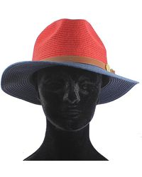 La Fiorentina - Straw Hat With Leather Strap - Lyst
