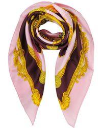 Versace - Women's Pink Silk Foulard - Lyst