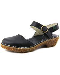 El Naturalista - Grain Women Open-toe Leather Slingback Sandal - Lyst
