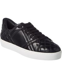 Burberry - Check-quilted Leather Sneaker - Lyst