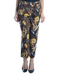 Prada - Women's Mcbi212015o Brown Viscose Pants - Lyst