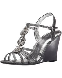 Adrianna Papell - Womens Kristen Fabric Round Toe Special Occasion Slingback Sa... - Lyst
